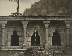 Kashmir. Part of the colonnade of Temple at Bhaniar on the road between Uri and Naoshera. The Temple probably dedicated to the goddess 'Bhawani,' the wife of 'Siva.' Probable date A.D. 500 to 600 (?)